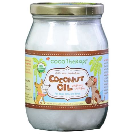 cocotherapy organic virgin coconut oil  dogs cats