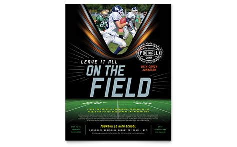 football training flyer template word publisher