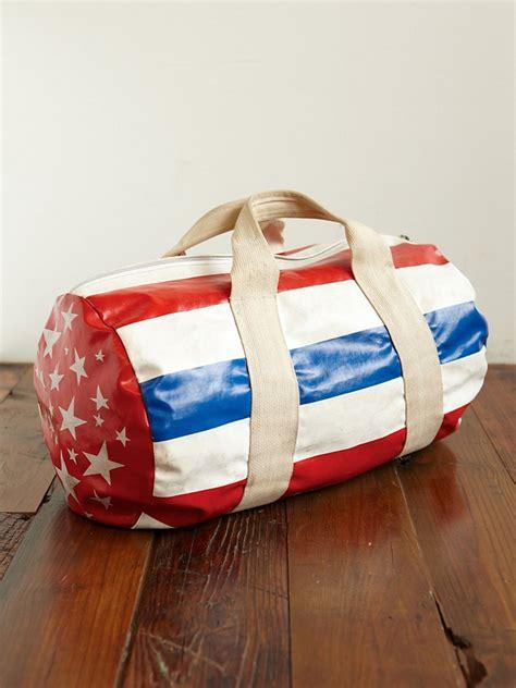 people vintage american flag duffle bag  white lyst