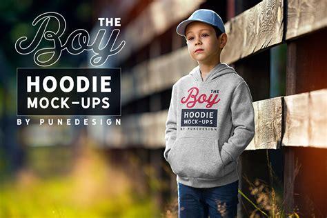 boy hoodie mockup punedesign