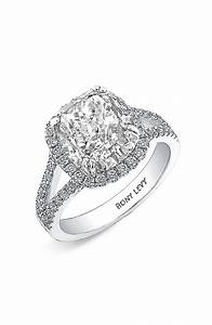 Bony levy bridal diamond split shank semi mount ring for Nordstrom wedding rings