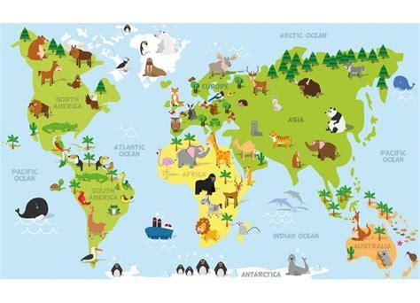 carte du monde enfant stickers pour enfant d 233 coration murale enfant stickers carte