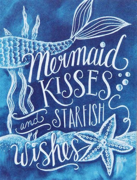 mermaid cove sayings quotes mermaids beach chalkboard wishes sea kisses ocean under bathroom sign starfish seashells uploaded user bedroom