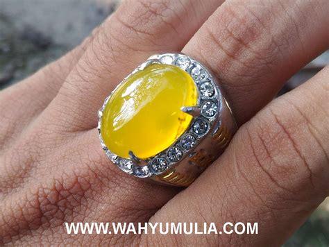 batu cincin akik warna kuning cerah kode 402 wahyu mulia