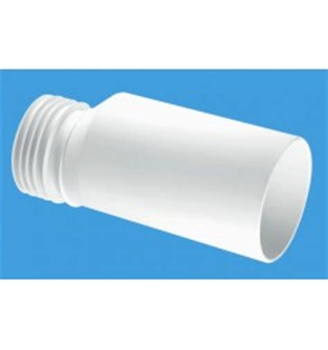 mcalpine wc   connector wall flange  mm pipe