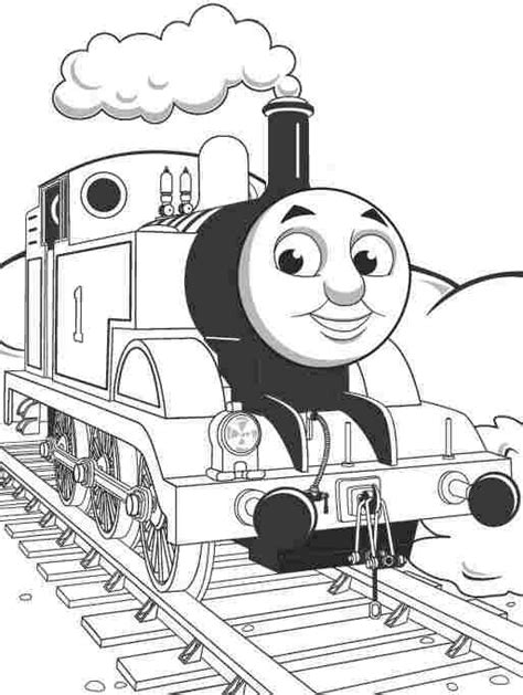 cartoon thomas  tank engine coloring sheets printable  kids train coloring pages