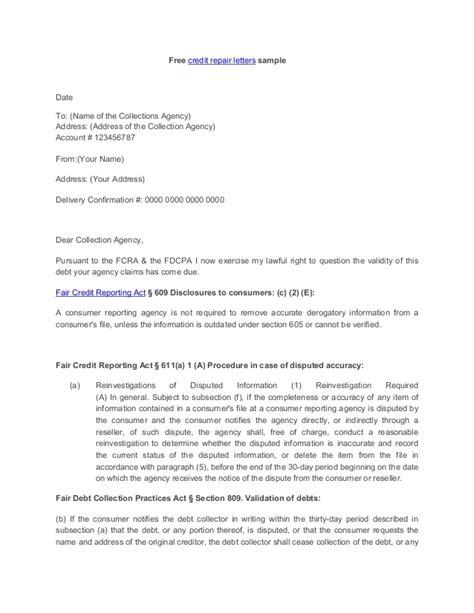credit repair letters credit repair letter 17539