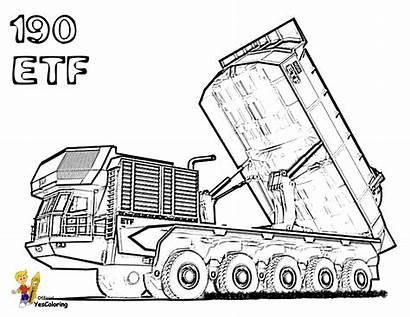 Coloring Truck Highway Construction Tractors Etf Bobcat