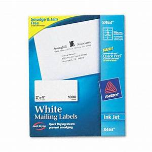 avery ave8463 white ink jet mailing labels 2 x 4 1000 box With avery 2x4 labels