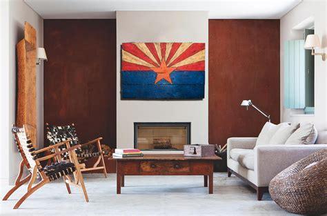 Arizona Flag, Handmade, Distressed Painted Wood, Vintage