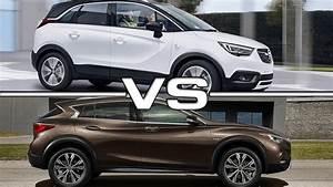 Opel Crossland 2018 : 2018 opel crossland x vs 2017 infiniti qx30 youtube ~ Medecine-chirurgie-esthetiques.com Avis de Voitures