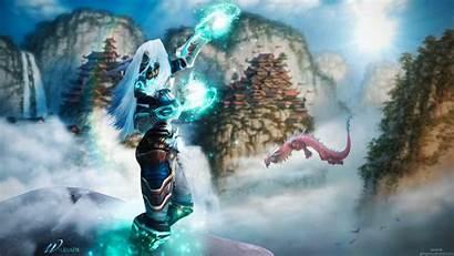 Warcraft Priest Wow Wallpapers Legion Winter Banner