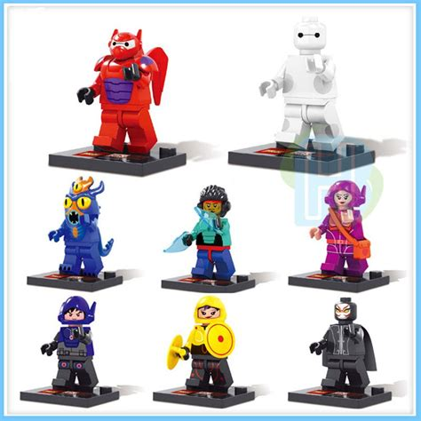 Mini Block Baymax 8pcs big 6 minifigures baymax building blocks toys