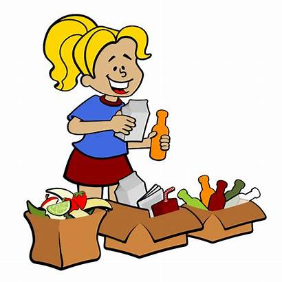 Clipart Shopping Grocery Supermarket Sort Clip Cliparts
