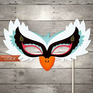 diy printable white swan mask halloween birthdays With swan mask template