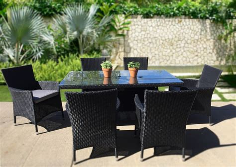 modern outdoor furniture set dining table kb furnishings