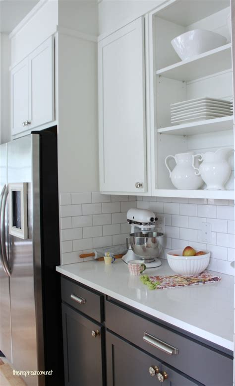 Kitchen Cabinet Colors  Before & After  The Inspired Room. Kitchen Island Ideas For A Small Kitchen. Kitchen Island Bookcase. Kitchen Design Small. Kitchen Island Vent. Kitchen Wall Ideas Decor. Modern White Kitchen Ideas. White Single Bowl Drop In Kitchen Sink. Diy Kitchen Island With Seating