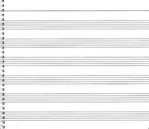 Paper Staff Blank Sheet Music