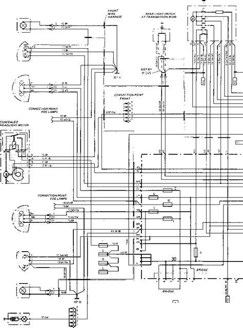 Porsche 928 Fuel Wiring Diagram by Wiring Diagram Type 924 S Model 87 Sheet Porsche 944
