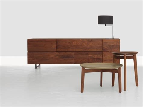 Low Wooden Sideboard by Wooden Sideboard With Doors With Drawers Low By Zeitraum