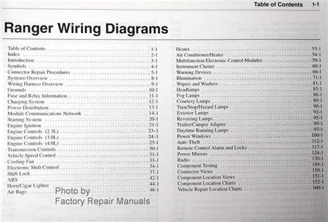Wiring Diagram For 2002 Ford Ranger by 2002 Ford Ranger Electrical Wiring Diagrams Original