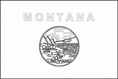 Montana Flag Printable State Flags