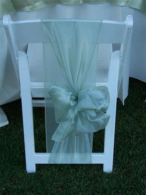 sashes on white folding chairs plan