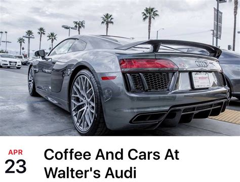 cars and coffee at walters audi riverside