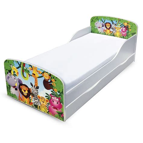 jungle mdf toddler bed with underbed storage new lion