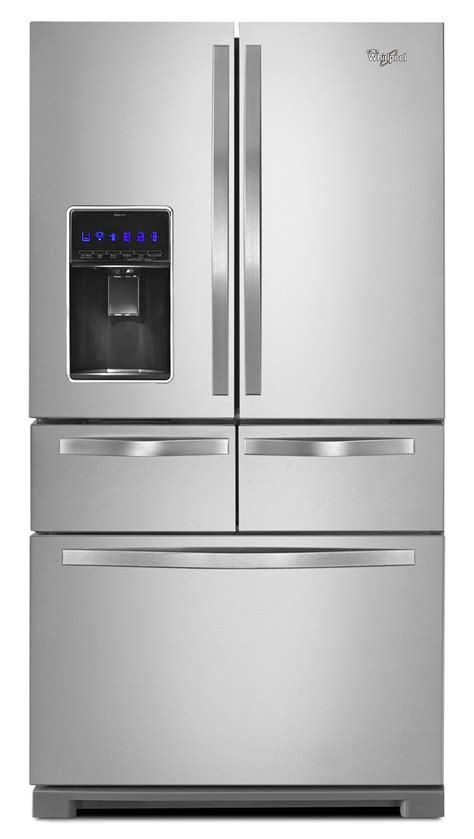 stainless steel door refrigerator whirlpool stainless steel door refrigerator 25 8
