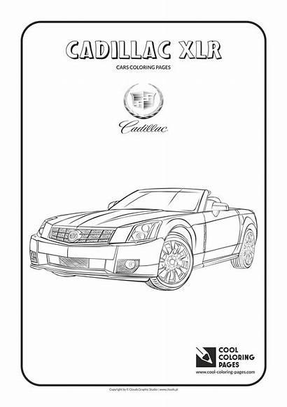 Coloring Cool Pages Cadillac Cars Xlr Lamborghini