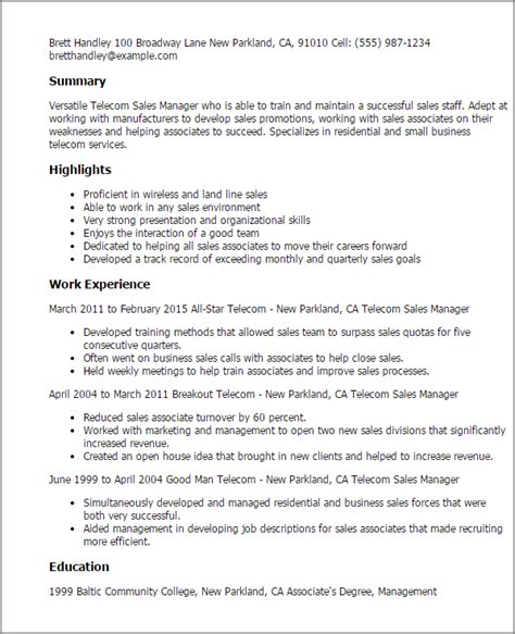 100 marketing sales executive resume exle sales