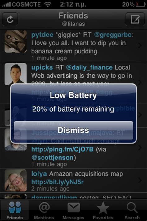 iphone warning iphone low battery warning flickr photo