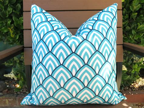 turquoise patio cushions colorful turquoise outdoor pillows great home decor