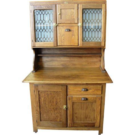antique boone oak  piece kitchen cabinet