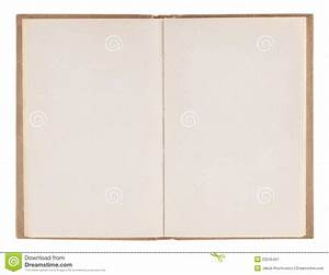 Open Old Blank Book Stock Image - Image: 23245421