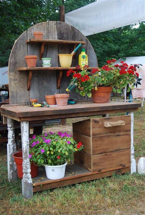 creative potting bench ideas   gardening  fun