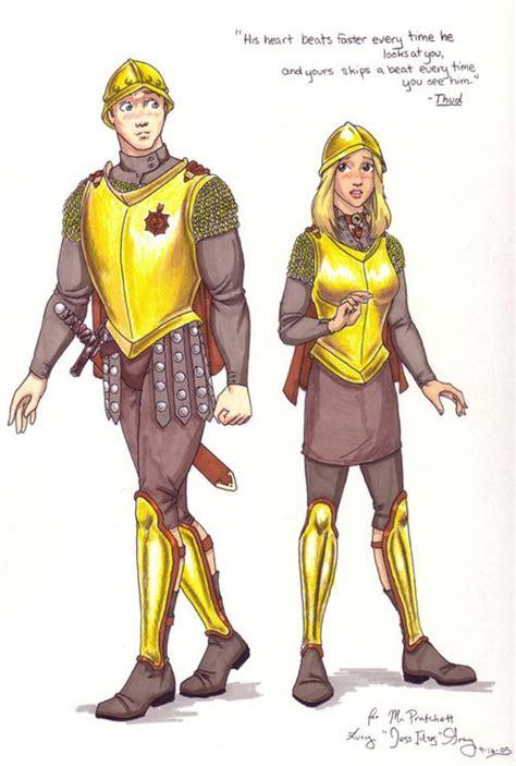 captain carrot  angua diskworld guard terry pratchett thud terry pratchett discworld