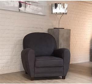 Fauteuil Club Tissu : fauteuil imitation vieux cuir gris club 4462 ~ Teatrodelosmanantiales.com Idées de Décoration