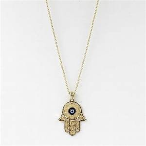 Hamsa Hand Of Fatima Necklace The Yoga Mandala Store