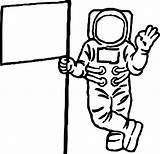 Astronaut Clipart Coloring Flag Pages Spaceship Alien Drawing Cartoon Wecoloringpage Printable Clipartmag Getdrawings Line Clipground sketch template