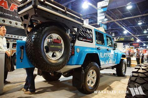 sema black forest blue jeep jk wrangler unlimited