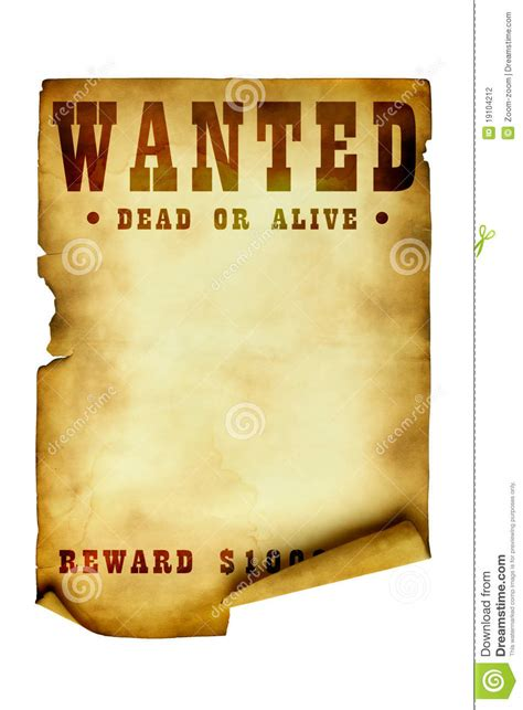 vintage wanted poster stock photo image  history blank
