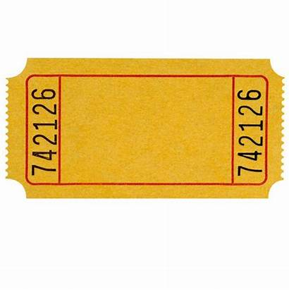Ticket Blank Tickets Yellow Template Lucky Admission