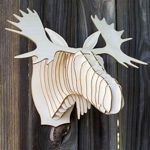Trophée Animaux Carton : bucky m dium cerf troph e en carton troph es d 39 animaux en carton de cardboard safari cart n ~ Melissatoandfro.com Idées de Décoration