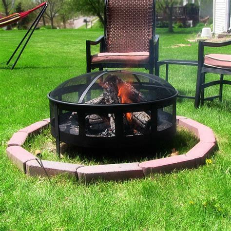 Is It To Burn Wood In Backyard by Outdoor Large Wood Burning Mesh Pit Firepit Home