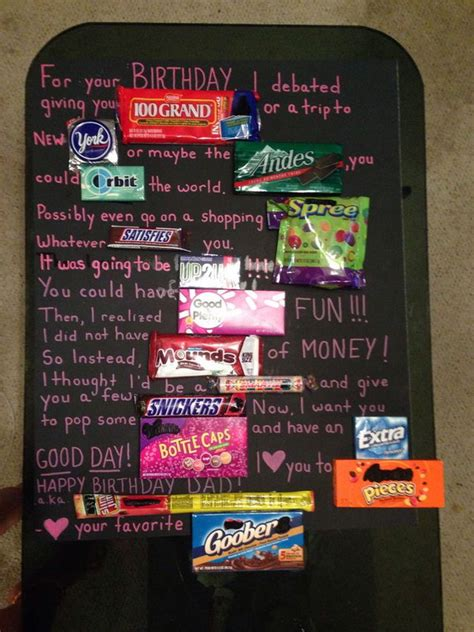 candy bar poster ideas  clever sayings