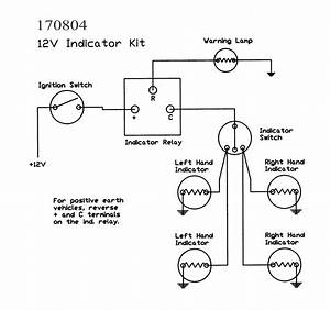 3 Pin Flasher Unit Wiring Diagram