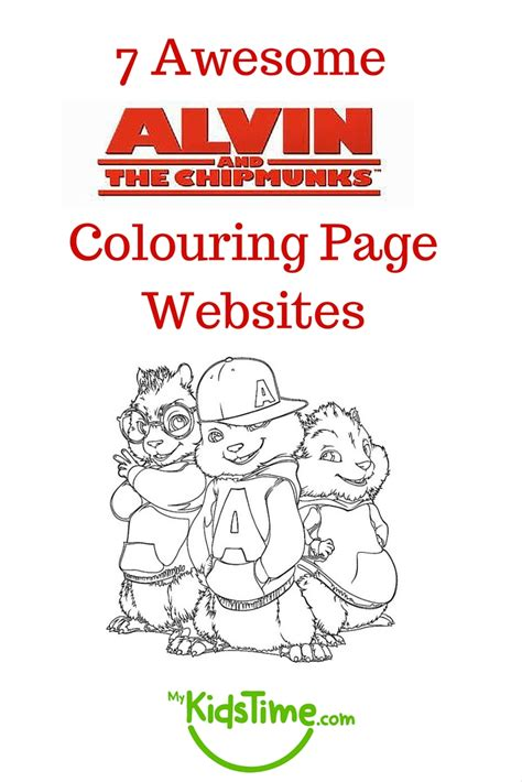 awesome alvin   chipmunks colouring page websites