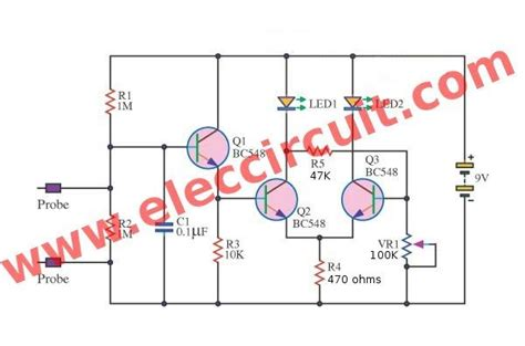 Lie Detector Circuit Simple Game For Learning Basic